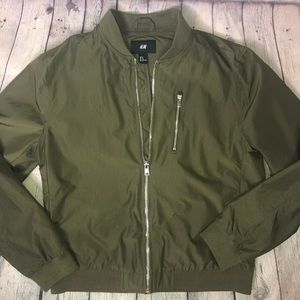 NWOT H&M Green Oversized Bomber Jacket